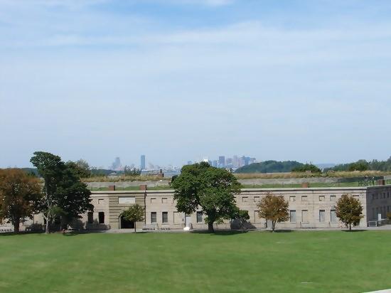 boston skyline in background