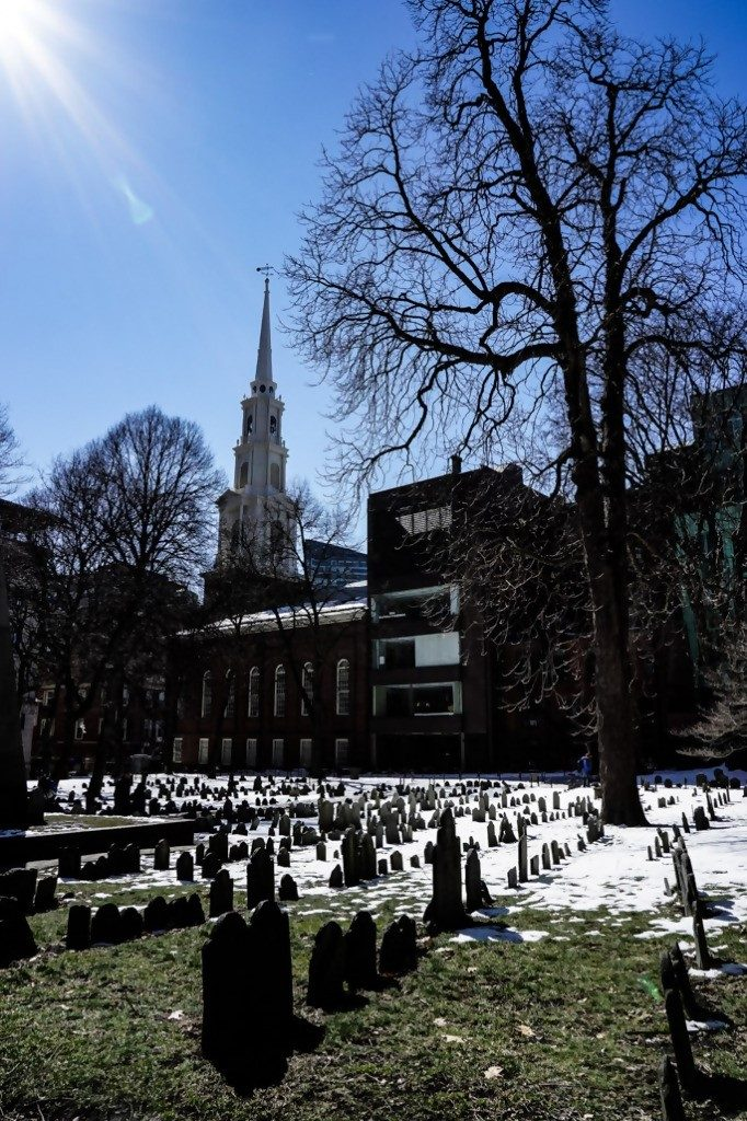 Shows Granary Burial Ground - A Haunted Cemetery In Boston