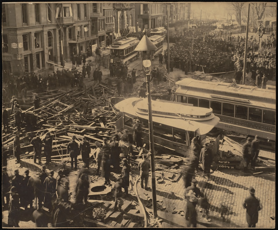 aftermath of gas explosion