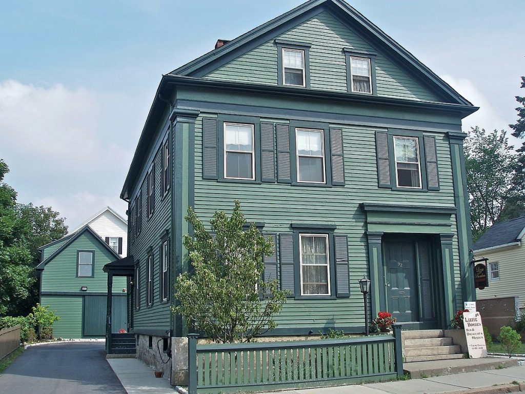 Exterior of the Lizzie Borden house, where she murdered her parents, in Fall River, Massachusetts