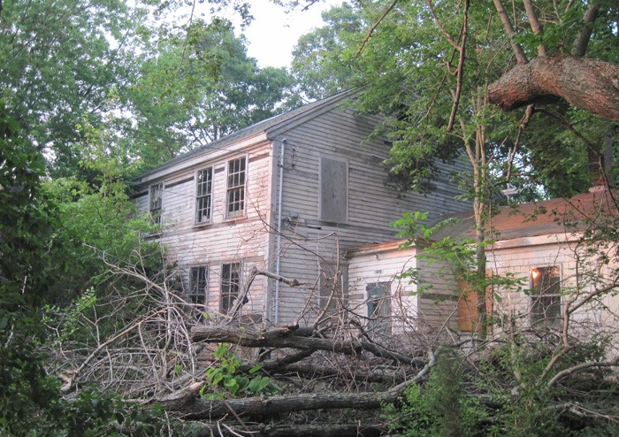 An abandoned house on Hockomock Swamp, where giant turtles are said to roam