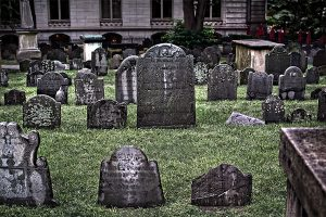 grave markers shown at kings chapel burial ground