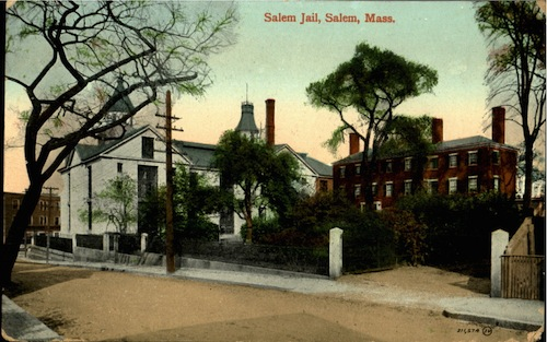A color printed postcard of the building that is now the Salem Cinema