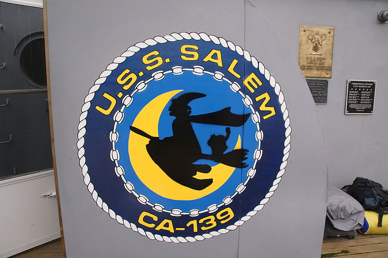 USS Salem ship's seal featuring a witch