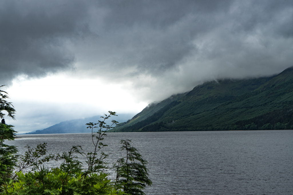 lake loch ness of the scottish highlands
