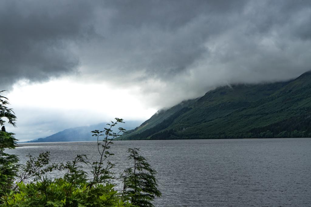 lake loch ness of the scottish highlands