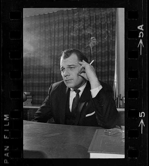 photo shows a concerned looking F. Lee Bailey, who was the attorney representing Albert DeSalvo.