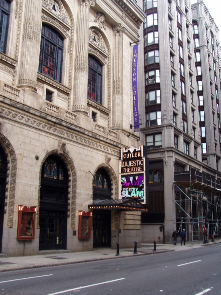 photo shows the exterior of the Cutler Majestic Theatre