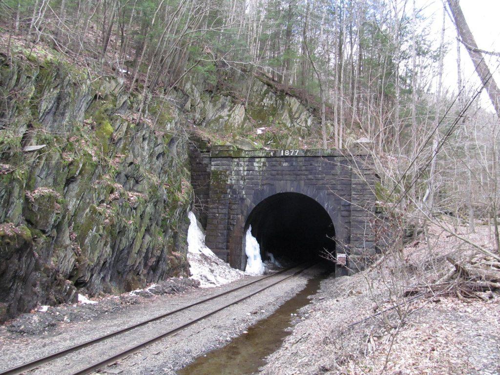 photo shows a train tunnel
